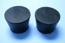 Size 65 Black Rubber Stoppers Count 2