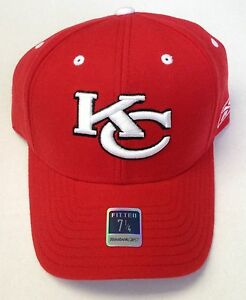 Image is loading NFL-Kansas-City-Chiefs-Reebok-Fitted-Cap-Hat- aa7d9b5b925