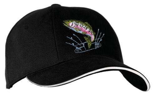 Baseball Cap Kappe mit Einstickung fuer Angler Angel Sport Fische Forelle 68232