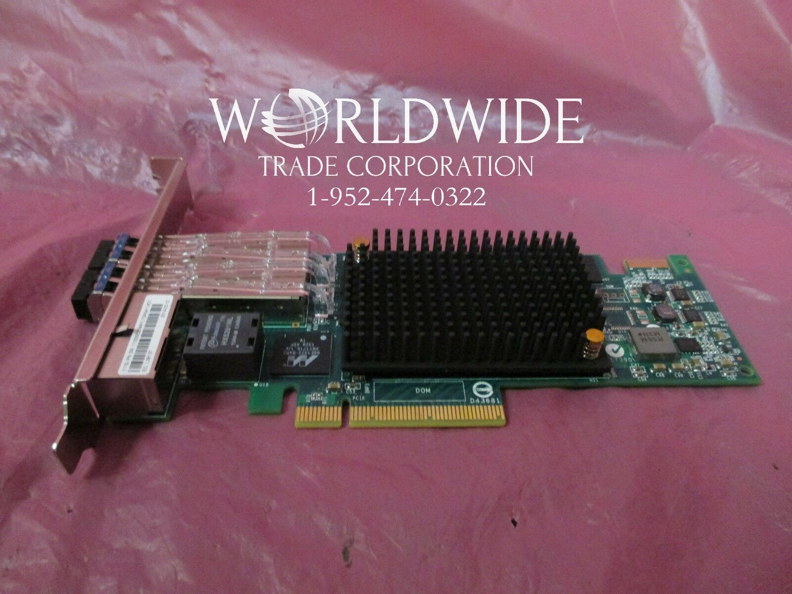 New IBM EN0M PCIe3 4-Port ( 10GB FCoE / 1 GbE ) LR and RJ45 Adapter for 8286-41A