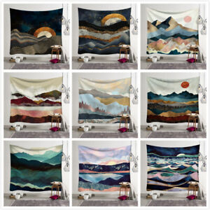 Art-Tapestry-Japanese-Abstract-Mountain-Ocean-Waves-Wall-Hanging-Bedroom-Decor