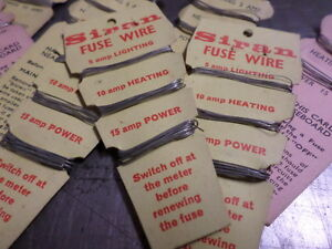 Keep on your Fuse Board! 5 amp 15 amp /& 30 amp Fuse Wire on a Handy Card