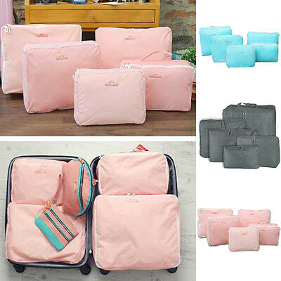 5 Pcs Travel Storage Bags Waterproof Clothes Packing Cube Luggage Organizer Set