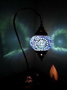 Turkish-Marocain-Colore-Lumiere-Mosaique-Tiffany-Bureau-En-Verre-Lampe-De-Table