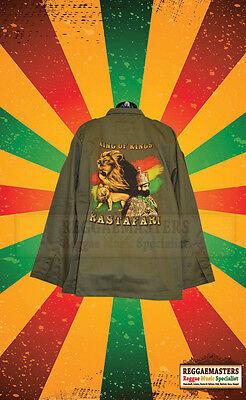 LION OF JUDAH KHAKI GREEN COLOUR ARMY STYLE JACKET REGGAE