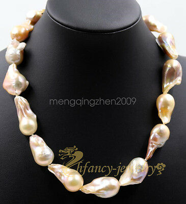 8mm multicolor Akoya Shell Pearl necklace AAA 18 inches  Y06