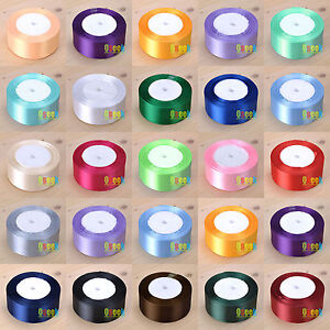 1-Roll-25-Yards-1-5-034-38mm-Satin-Ribbon-Bow-Wedding-Supply-Craft-Sewing-Decor