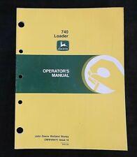 John Deere 4040 4240 4440 4055 4255 4455 Tractor 740 Loader Operators Manual