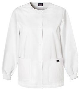 4d42d693d87 Cherokee Workwear 4350 Scrub Warm up Jacket for Women White XS | eBay