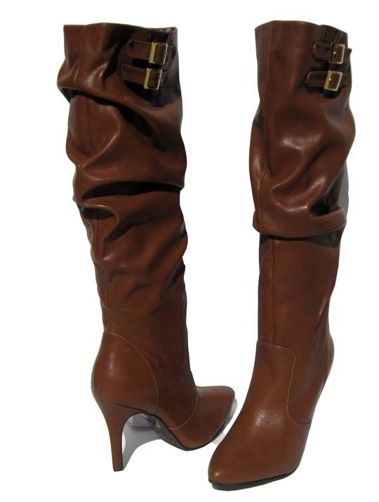 New Slouch Women's Fashion Boots Tan Winter Snow Knee High Slouch New shoe Ladies size 8.5 a72487