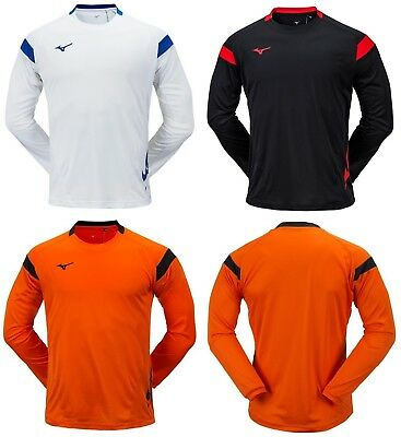 Mizuno Men GAME S//S T-Shirts Jersey Training Blue Orange Top Shirt P2MA8K0126