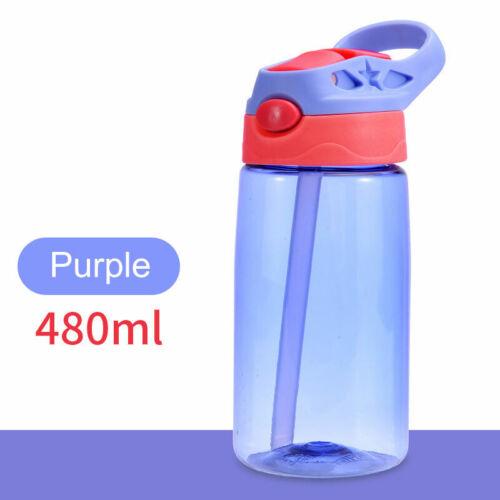 400ml Kids Children Sport School Drinking Juice Straws Water Bottle Cup Students