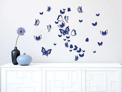Wandtattoo Mädchen Sticker Set für Wohnzimmer Schmetterlinge Kinderzimmer Falter