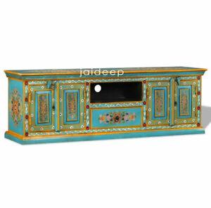 Handmade-hand-Painted-Floral-Design-TV-Cabinet-TV-Entertainment-Unit