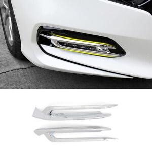 Chrome Car Rear Fog Light Lamp Cover Trim Strip For Honda Pilot 2019-2020-2021