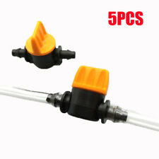 10pcs 4mm Miniature Coupling Barbed Slotted Water Hose Valve Connectors