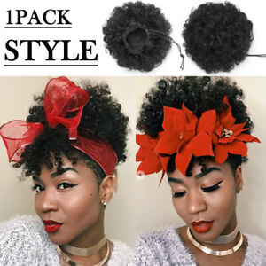 Real-Thick-Drawstring-Afro-Bun-Puff-Kinky-Curly-Pony-Tail-Hair-Extensions-65g-JL