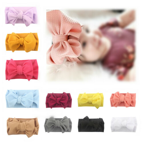 Kid Girl Baby Headband Toddler Lace Bow Hair Band Headwear Soft Accessories Gift