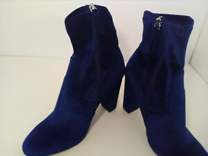 653de33b4 NEW Steve Madden Edit Ankle Booties Navy Blue Velvet, Women Size 8m ...