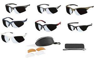 Details zu CRIVIT® Design 100% UV Sportbrille Sonnenbrille Fahrrad Brille + 3 Wechselgläser