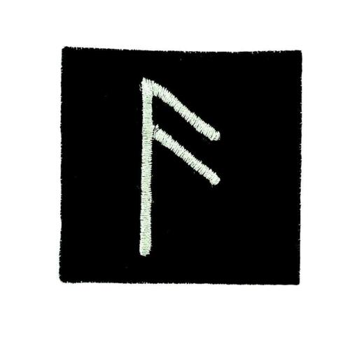 Patch ecusson brode thermocollant viking odin sorcellerie rune alphabet mouth