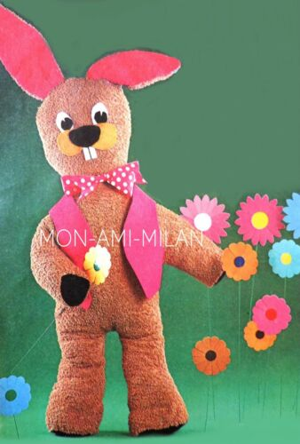 Bunny Rabbit fotocopia patrón de costura para hacer un lindo juguete suave mimoso