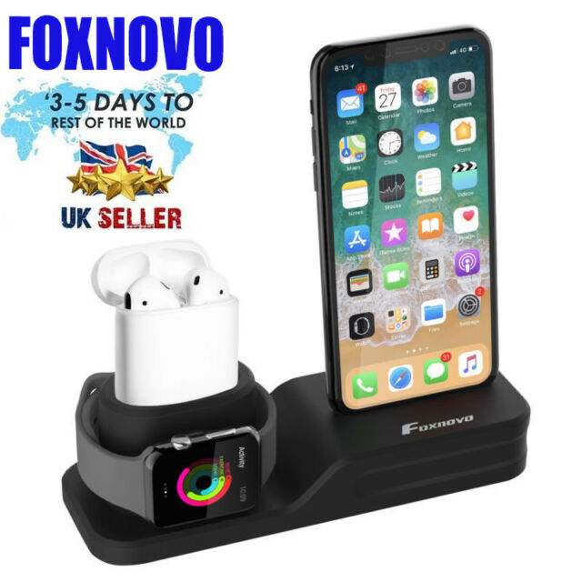 92e360cee Charging Stand Mount Holder Dock for iPhone X 7 8 Plus 6s AirPods Apple  Watch CE