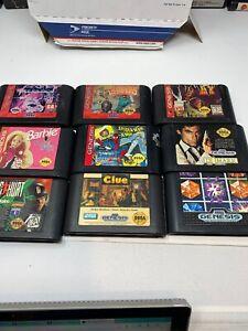 Lot-Of-9-Sega-Genesis-Games-Spider-Man-Toy-Story-Barbie