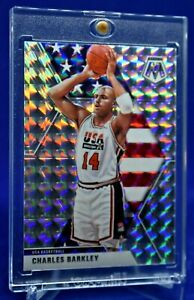 CHARLES BARKLEY PRIZM MOSAIC SILVER USA DREAM TEAM PARALLEL RARE SP
