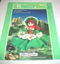 FIBRE CRAFT 1991 ERIN FOR 11 /& 1//2 INCH PORCELAIN-LOOK DOLLS CROCHET PATTERN 241
