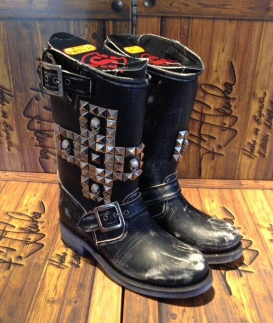 SENDRB Stiefel BIKER Boots Leder  10639   HBNDMBDE in SPBIN