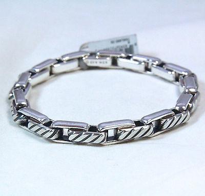 "New David Yurman Men's Modern Cable Link Bracelet Sterling Silver 8.5"" $850"