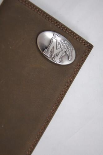 ZEP-PRO NCAA Memphis Tigers Crazy Horse Leather LONG Roper WALLET Tin Gift Box