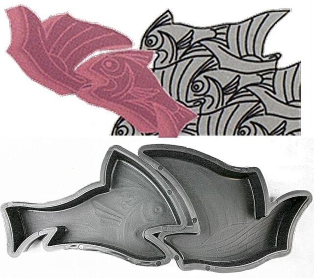 1 paar Gießformen mit Fisch Motiv für besondere Terrassen Pflaster