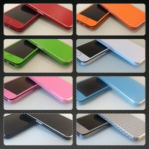 Textured-Carbon-Fibre-Skin-For-iPhone-4-4s-5-Wrap-Sticker-Decal-Case-Cover