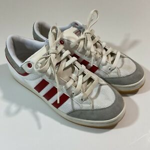 imagen gusto pantalones  adidas Originals Americana Low Classic Shoes White Red Mens Size 9.5 | eBay