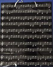 GIFT BAG WITH SHEET MUSIC DESIGN MUSIC GIFTWRAP MUSIC BAG