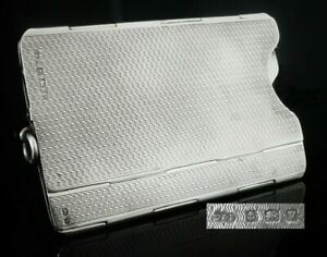 Collapsable Folding Silver Card Case, Birmingham 1920, Deakin & Francis Ltd