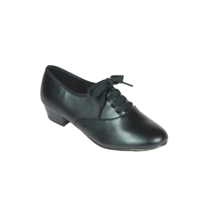Mens Boys Black Oxford low heel Tap Shoes all sizes