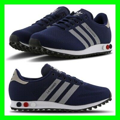 NEW Adidas LA Trainer Navy BlueWhite Mens Trainers Size 6.5 10.5 Limited Stock | eBay