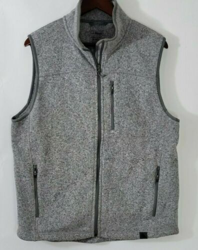 L.L. BEAN Sweater Vest Slightly Fitted Gray Heath… - image 1