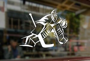 25x18cm Sticker Vinyl Decal Goalkeeper Ice Hockey Player Car Auto Glass Laptop
