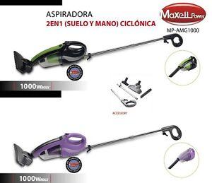 ASPIRADORA ASPIRADOR ESCOBA DE MANO CICLÓNICO 2 EN 1 1000W ACCESORIOS GARANTIA