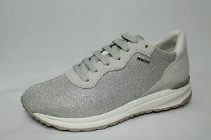 Scarpe Sneakers Geox D Airell B bianco con glitter