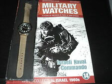 Eaglemoss Military Watches - Issue 14 - Israeli Naval Commando Watch 1960s.
