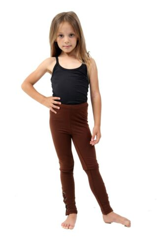 KIDS GIRLS STYLISH EYELET COTTON DETAIL STRETCH LEGGINGS AGE 3 to 12