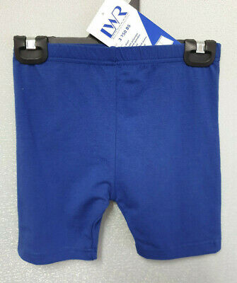 BNWT Teen Sz 16 LW Reid Royal Blue Elastic Waist School Sports Rugby Knit Shorts