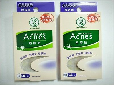 0.9cmx28pcs X2 Pack Sophisticated Technologies Mentholatum Acnes Acne Dressing Stickers Super Thin 0.02cm