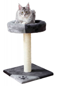 NEW-TRIXIE-TARIFA-CAT-KITTEN-SCRATCHING-POST-WITH-PADDED-PLATFORM-BED-43712