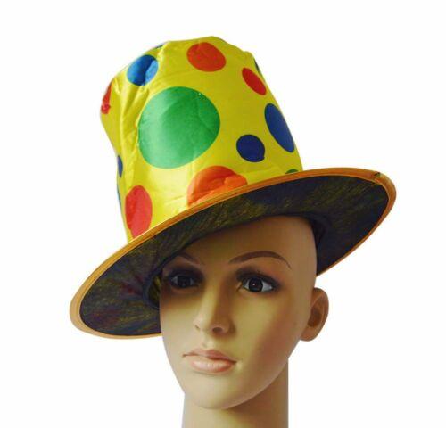 Colorfs Polka Dot Rainbow Circus Magician Cap Clown Costume Jester Hat Halloween